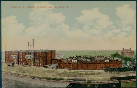 Tobacco Postcards Durham NC